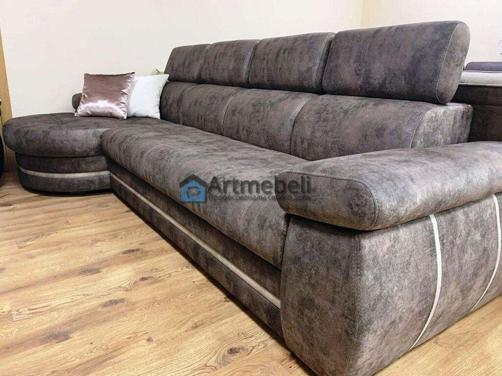 Перетяжка прямого дивана